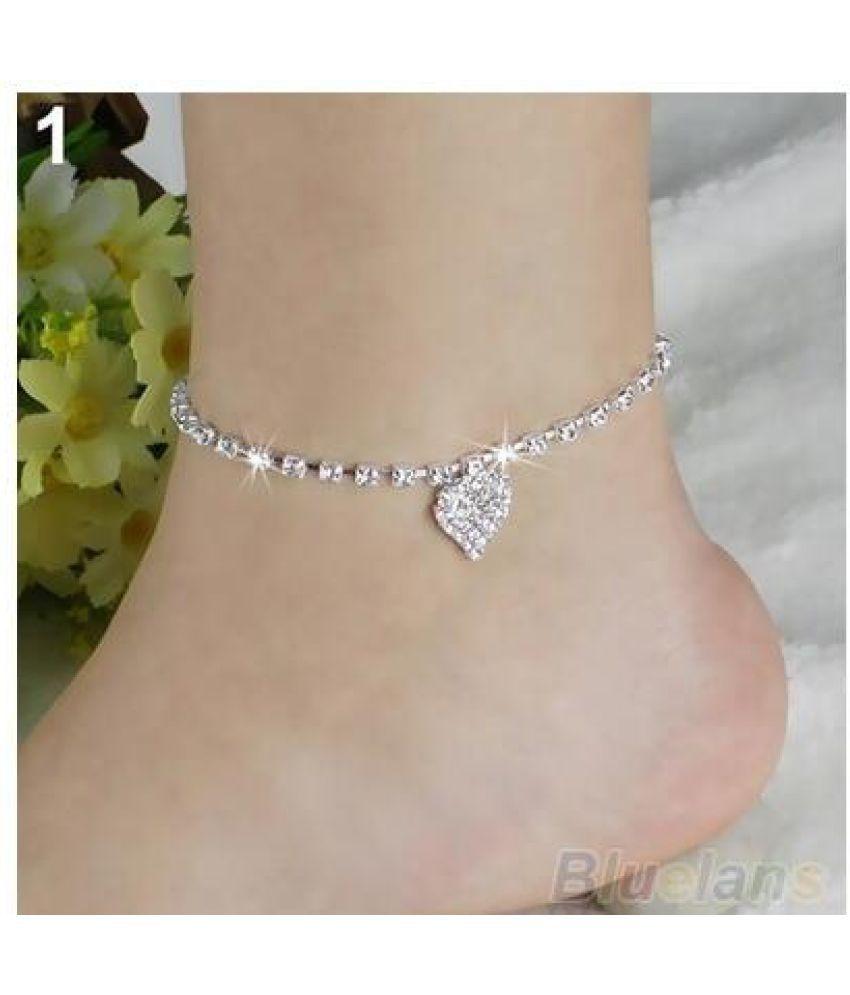 Multi-pattern Love Heart Star Wedding Sandal Beach Anklet Chain Foot Jewelry