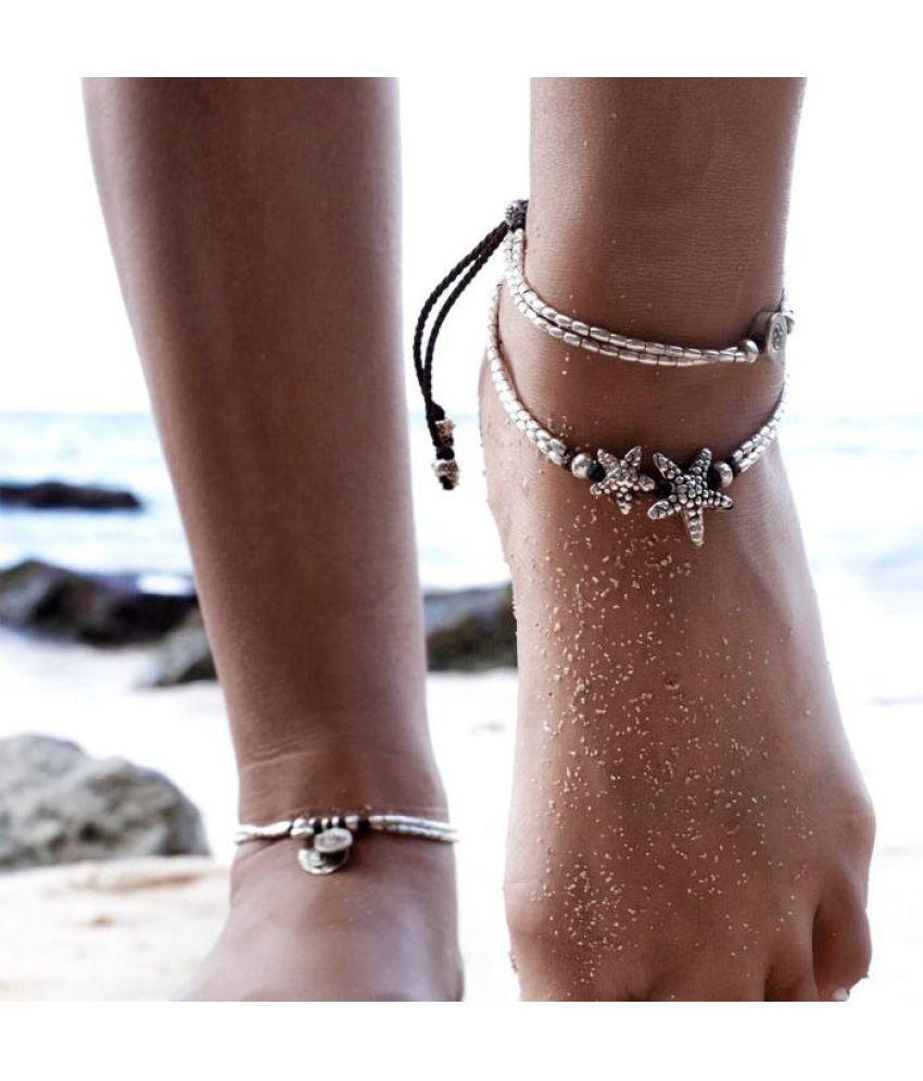 Super Hot 2017 Star Foot Bracelet Barefoot Beach Vintage Ankle Leg Jewelry For Women