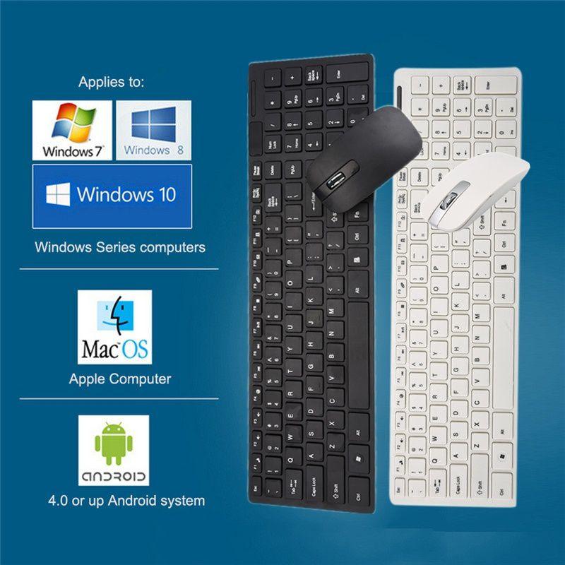 ZXG Mini Ultra Slim Portable Keyboard Wireless 2.4G K White USB ...