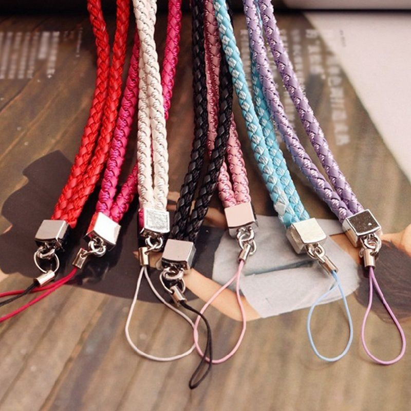 1PC Lanyard Petals Colorful Mobile Phone Straps Lanyard Phone Neck Hanging Rope Chain Straps Keychain Charm Cords