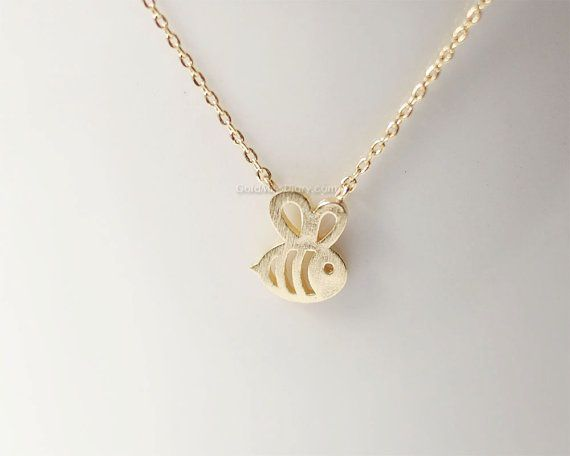Bee Bumble Tiny Honey Queen Insect Necklace Cute Necklaces Necklaces Bumblebee Beehive