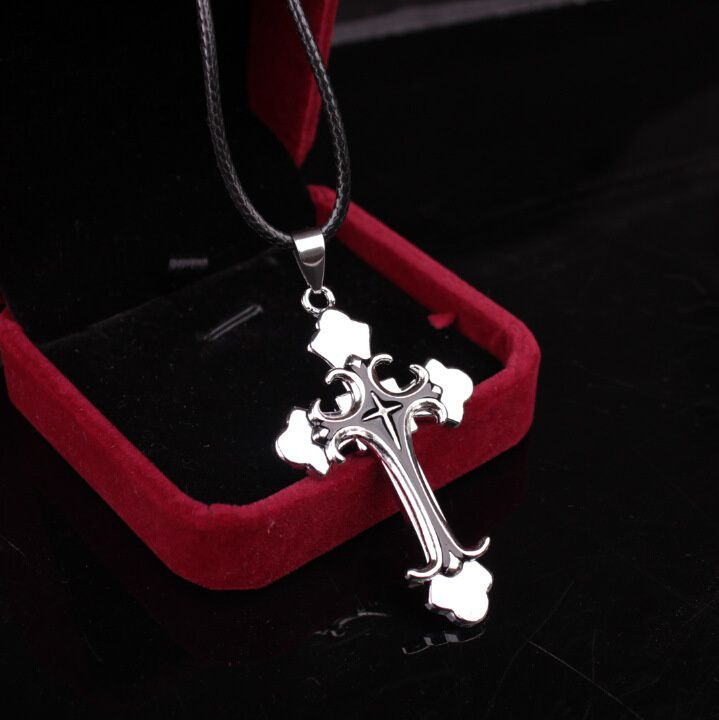 Cross Pendant Necklace Stainless Steel Necklace New Design Black Chain Pendant Necklace Men Women Necklace