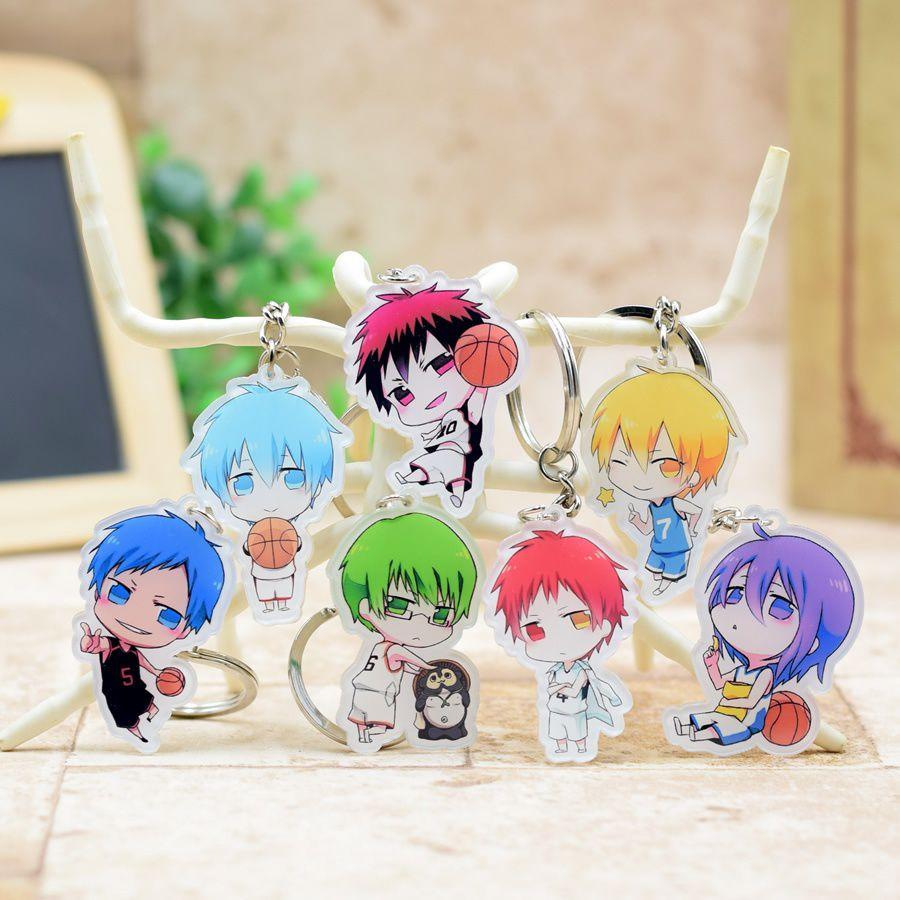 Kuroko No Basket Acrylic Keychain Pendant Car Key Accessories Cute Japanese Cartoon Kuroko's Basketball 7 Styles