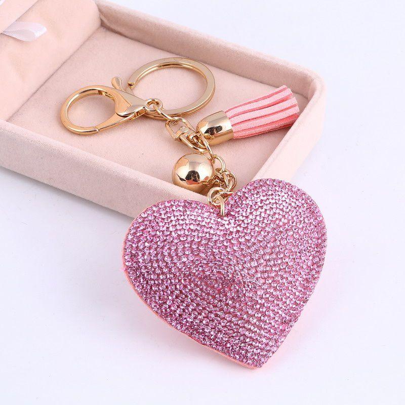 Love Heart Pendant Key Chains For Girls Key Ring