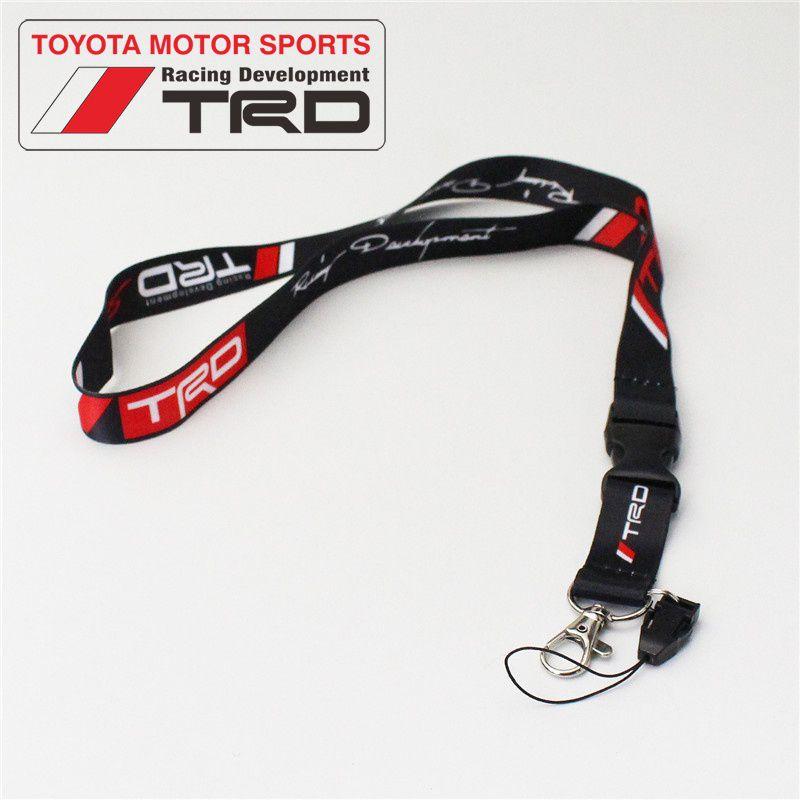 50*2.5cm Toyota Racing Development TRD Logo Lanyard JDM Keychain Keyring ID Card Holder for Toyota Camry Corolla RAV4 Highlander etc.