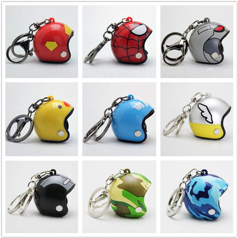 Creative Helmet Key Chain Motorcycle Casque Keychain Super Hero
