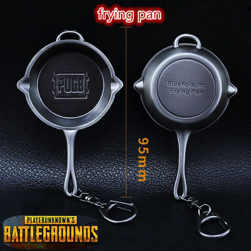 e3eb156637 Game PUBG Playerunknown's Battlegrounds Cosplay Costumes Props Alloy Frying  Pan Armor Model Key Chain Keychain: Buy Online at Low Price in India -  Snapdeal