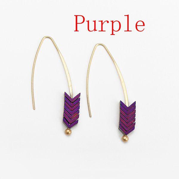 1pair Beautiful Gold Alloy Arrow Dangle Drop Earring Geometric Women Jewelry Fashion Accessories Party Dress