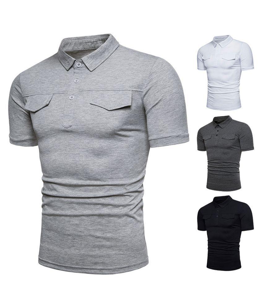 Duomu Grey Round T-Shirt