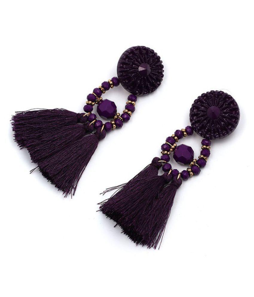 Women Ethnic Vintage Long Dangle Fringe Earrings Boho Indian Geometric Beads Jewelry Statement Tassel Drop Earrings Party Gift