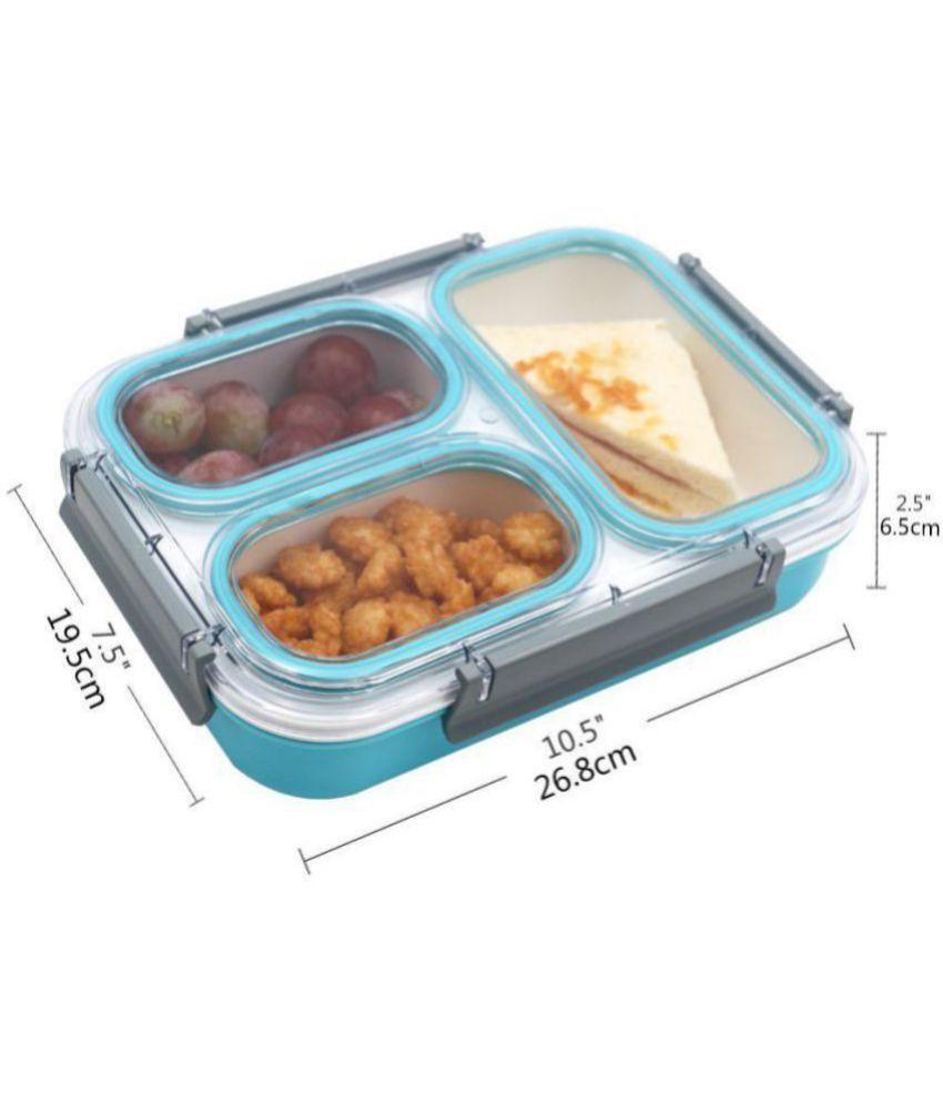 Jeeya Blue Virgin Plastic Lunch Box