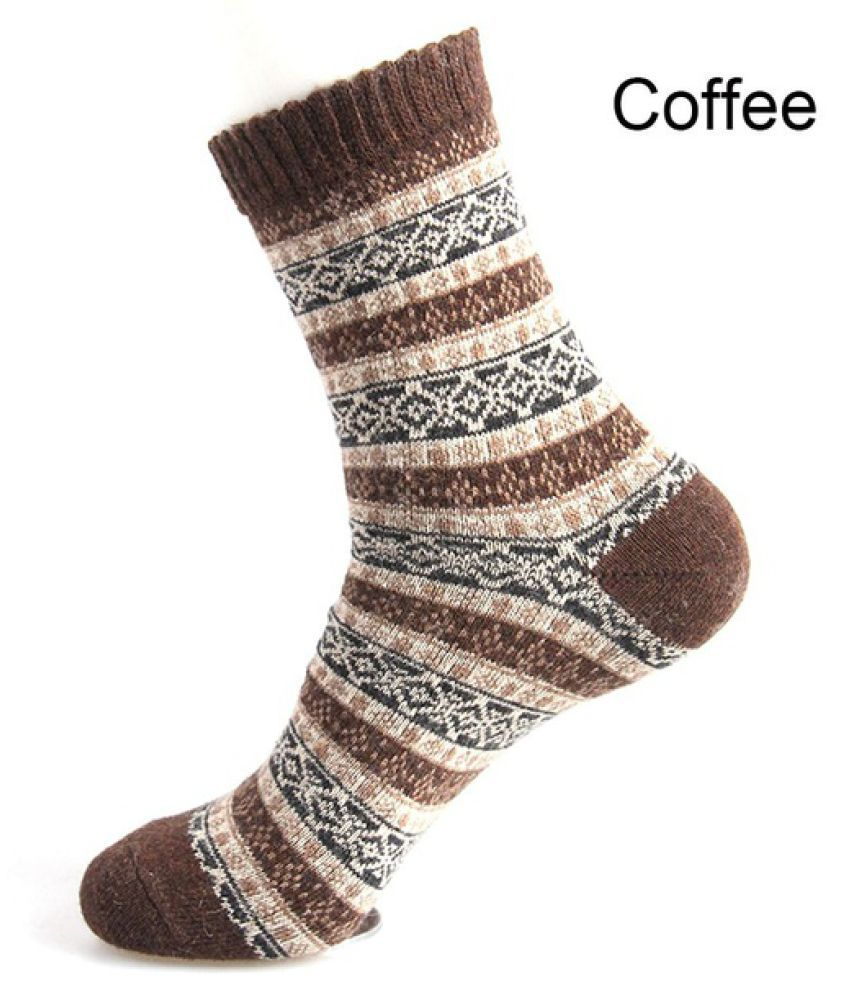 1 Pairs Comfortable Casual Winter Thick Wool Men Socks Cashmere Soft