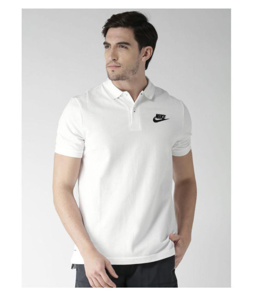 Nike White Cotton Polo T-Shirt Single Pack - Buy Nike White Cotton Polo T- Shirt Single Pack Online at Low Price in India - Snapdeal 3c3a5c5ae06b