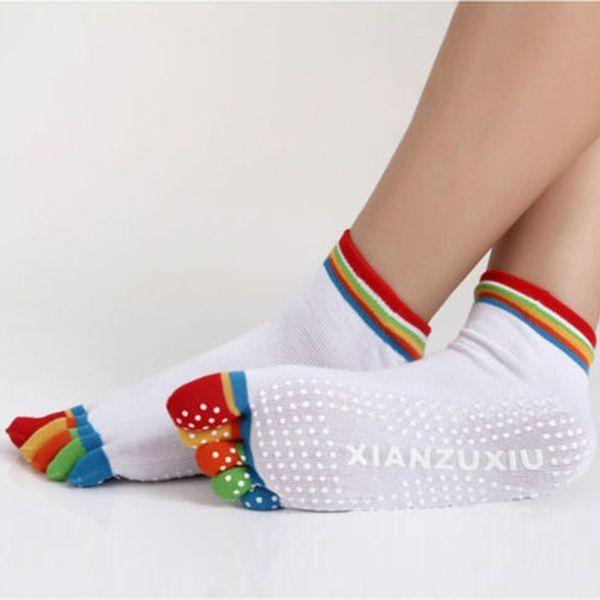 Yoga Massage Socks Sport Socks Non Slip Five Toe Design  Creative Gifts