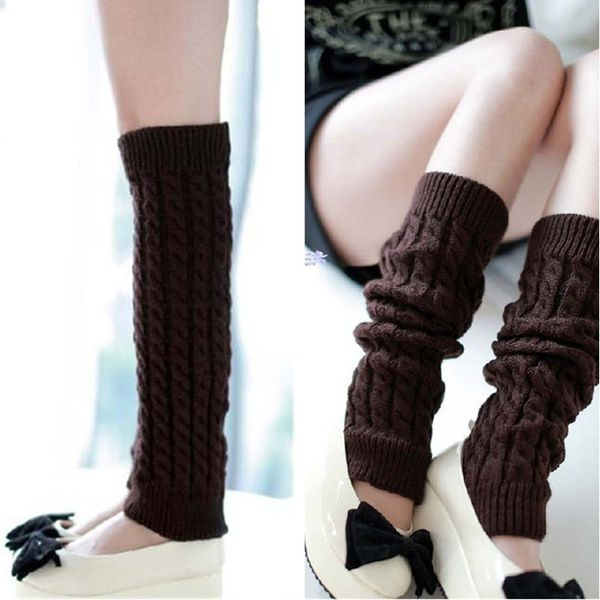 Leg Warmers For Women Gaiters Knit Warm Boot Cuffs Socks