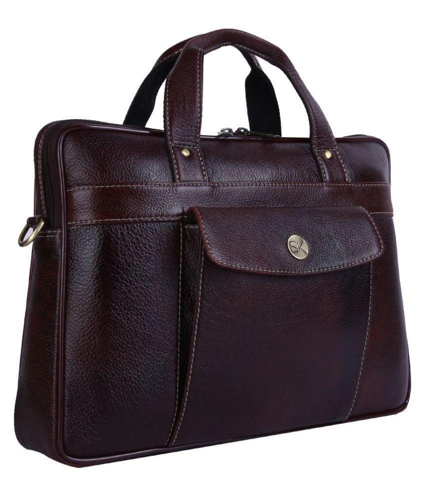 JIBREEL TRADER Brown Leather Office Bag