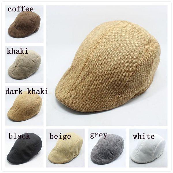 d7c44731a732f ... New Uni Men Beret Women Hat Baker Boy Peaked NewsBoy Bonnet Homme Golf  Hat Beret Flat ...