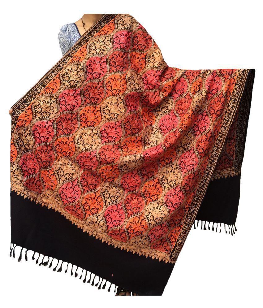 kashmiri shawls Multicoloured Ari Embroidery Shawl