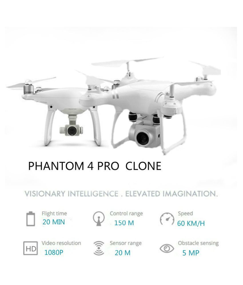 DJI Phantom Clone !!! Fly Time 20min RC Drone with HD 1080P Adjustable  Camera Altitude Hold Quadcopter Kid Toy Gift Aerial Photography Aircraft