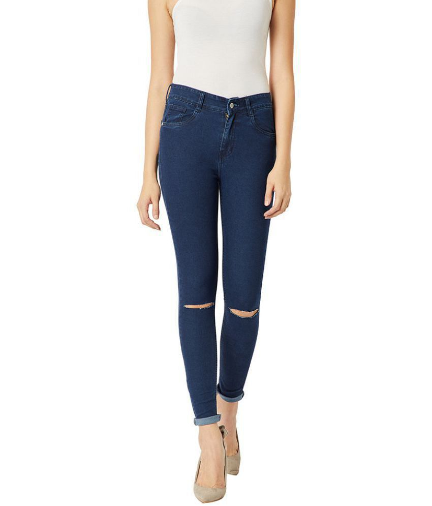 Miss Chase Cotton Jeans - Navy