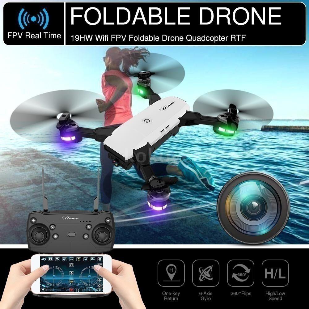 Professional WIFI FPV 2 0MP Wide-angle Camera Drone Foldable