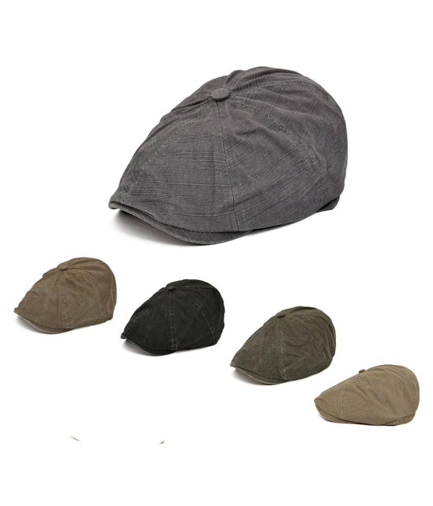 ZXG Brown Fabric Caps
