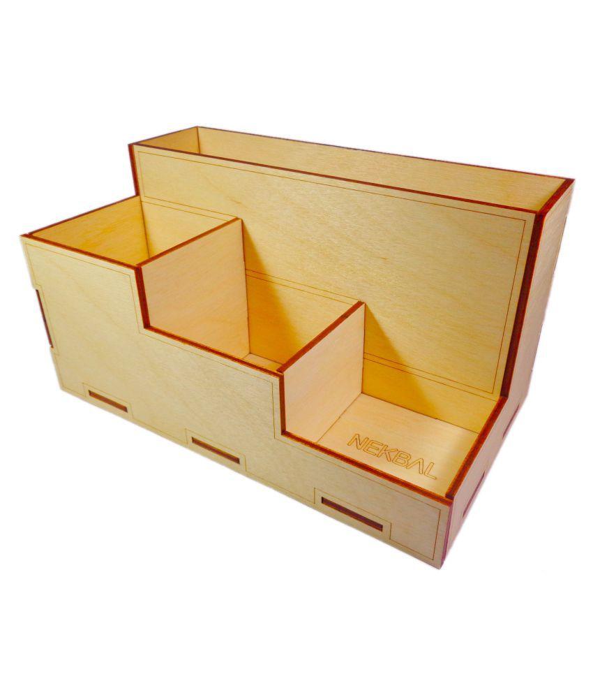6fa5af075083 NEKBAL Wood Desk Organizer, Desk Organizer,Office Organizer,Wood Desk  Decor,Pen Holder,Pencil Holder,Desk Container,Wooden Desk Organizer: Buy  Online at ...