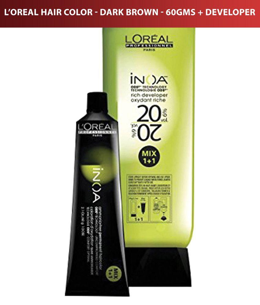 Loreal Inoa No 3 With 6 20vol Inoa Developer Permanent Hair Color