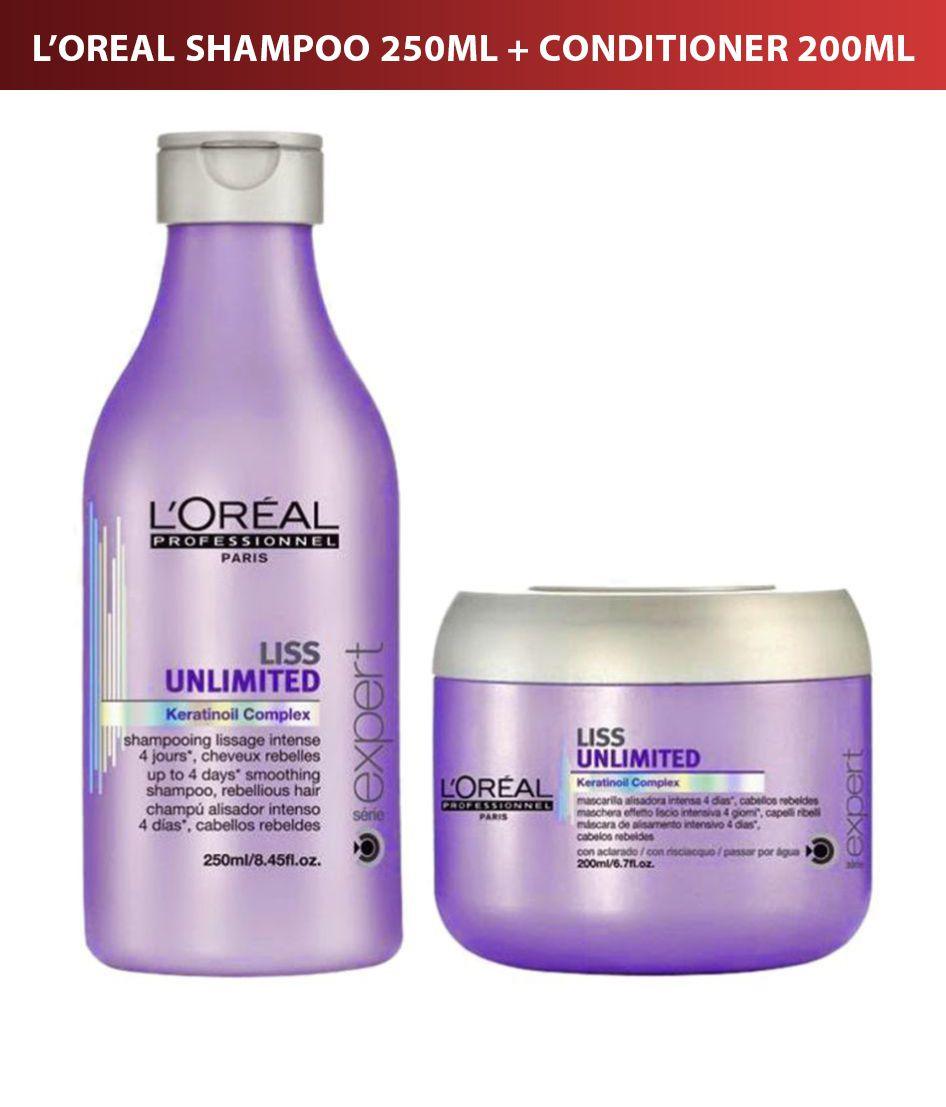 ea682487e L'oreal Professional Liss Unlimited Shampoo 250ml + Conditioner 230 ml: Buy L'oreal  Professional Liss Unlimited Shampoo 250ml + Conditioner 230 ml at Best ...