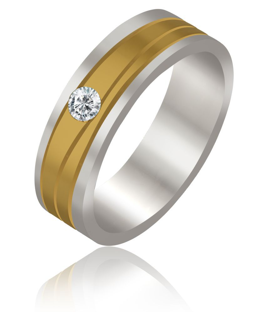 R C JEWELLERS 14k Yellow & White Gold Diamond Couple Bands