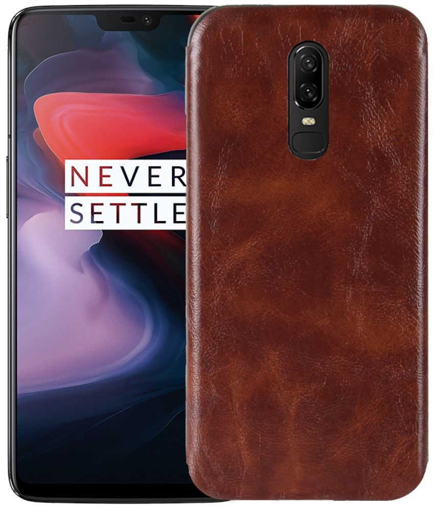 OnePlus 6 Soft Silicon Cases Excelsior - Brown