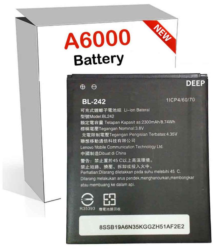 Lenovo A6000 2300 mAh Battery by Deep