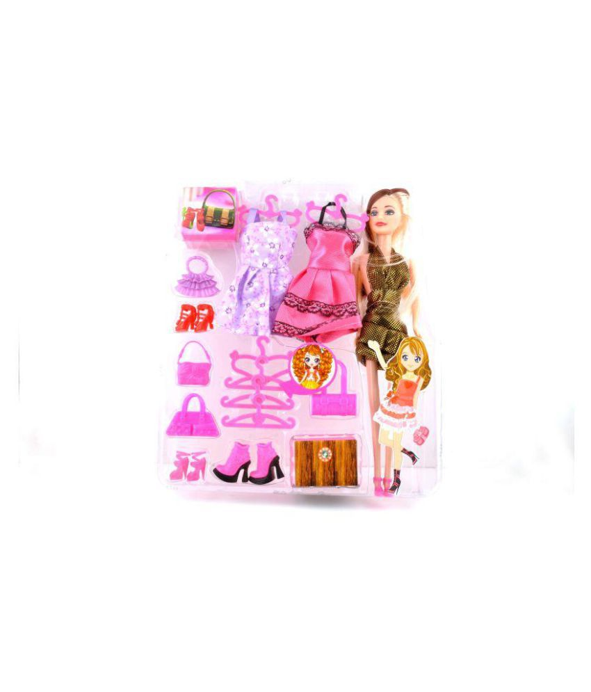 20 Pieces Barbie Doll Fashion And Accessories Multi