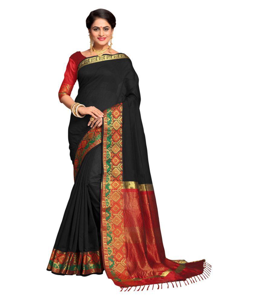 Urban India Multicoloured Cotton Silk Saree