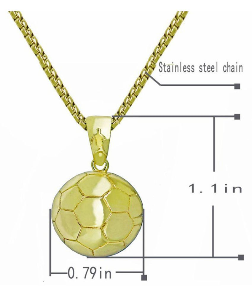 3D Football Necklace Basketball Necklace Pendant Stainless Steel Chain Men Basketball Fans and Football Fans Charm Necklaces Sport Hip Hop Jewelry