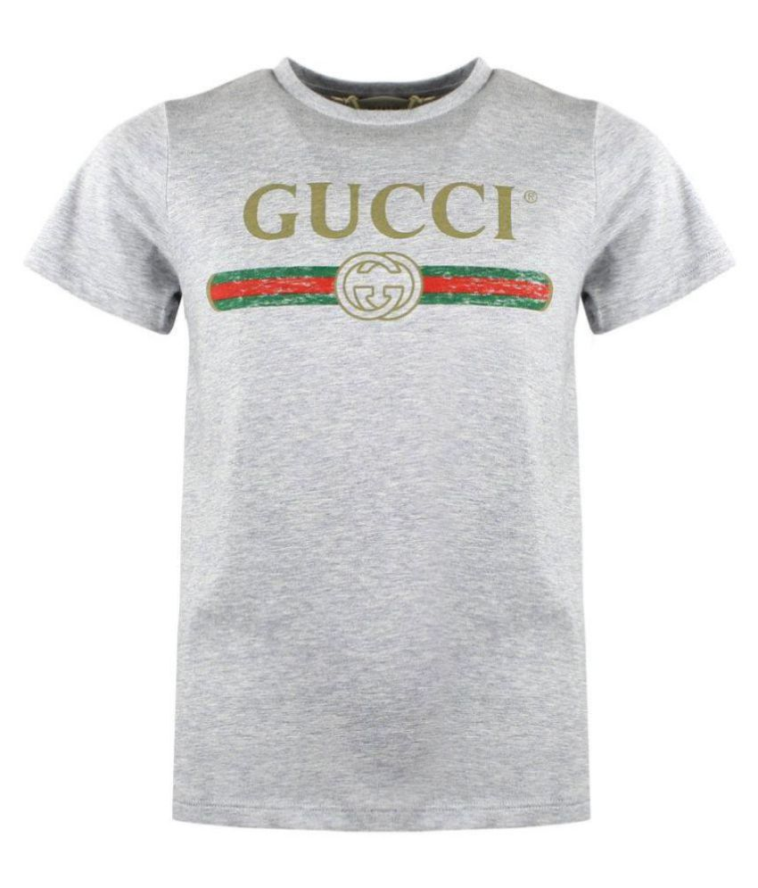 0d51621ba0328 Gucci Grey Round T-Shirt