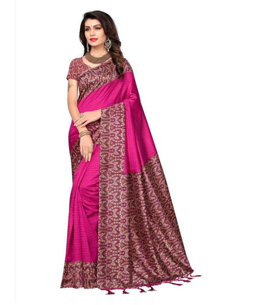 Indira Pink Mysore Silk Saree