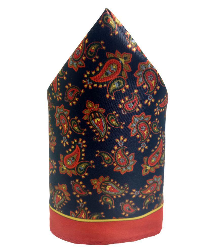 Mentiezi Poly Silk Multicolor Printed Pocket Square with Red Color BorderMentiezi Poly Mentiezi Poly Silk Multicolor Printed Pocket Square with Red Color BorderMulticolor Printed Pocket Square with Red Color Border