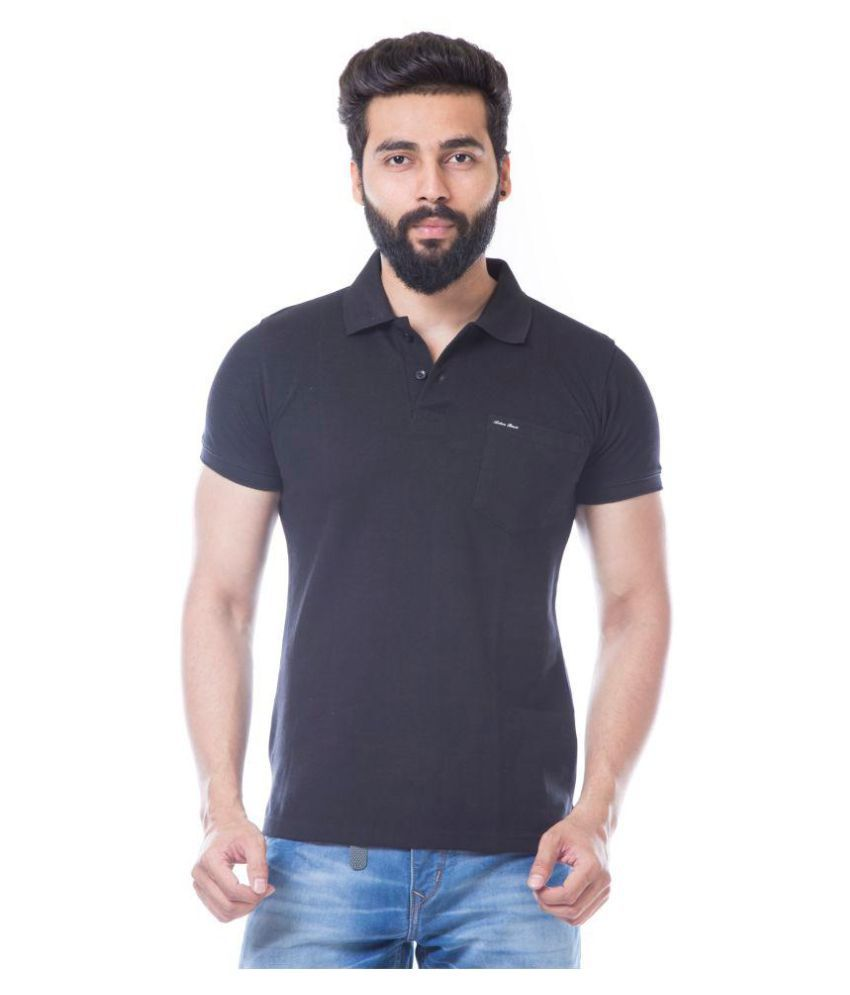 ACTIVE BASIC Black Round T-Shirt Pack of 1