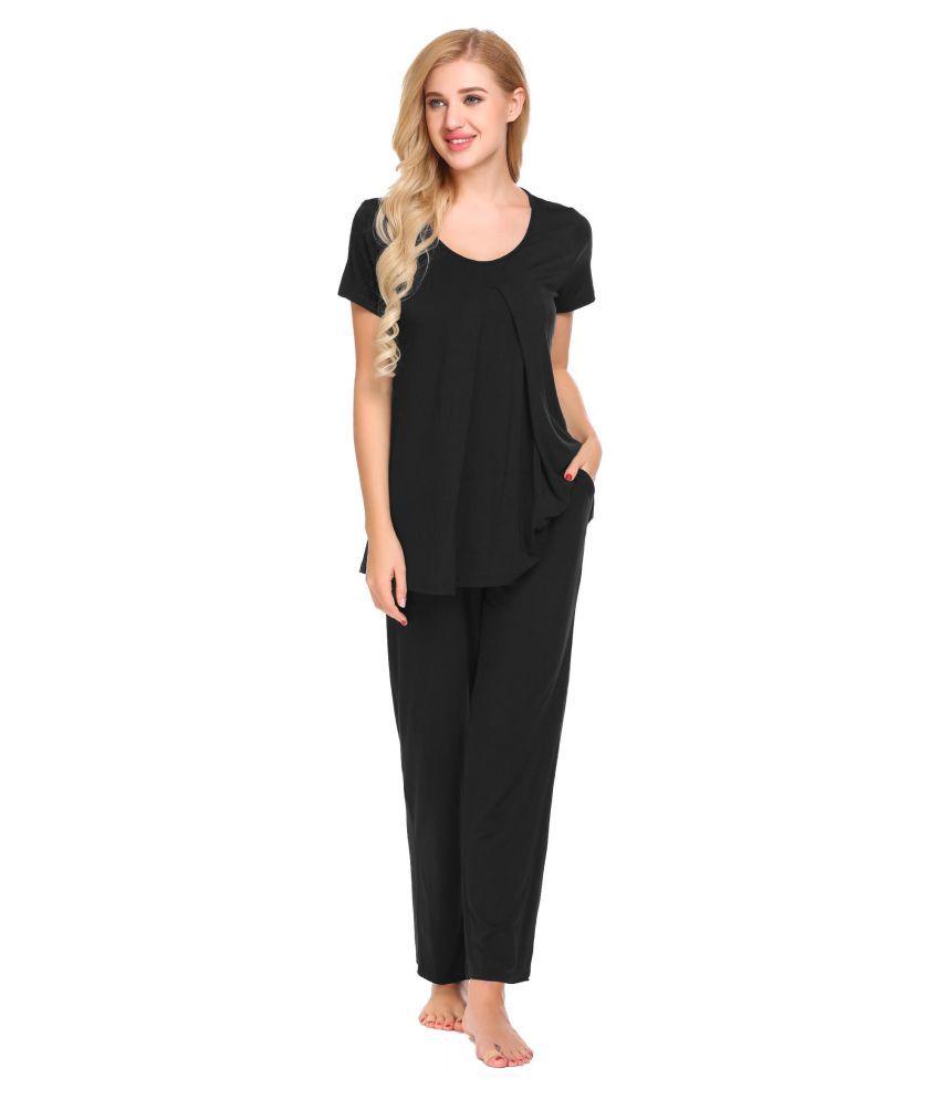 Generic Rayon Pajamas - Black
