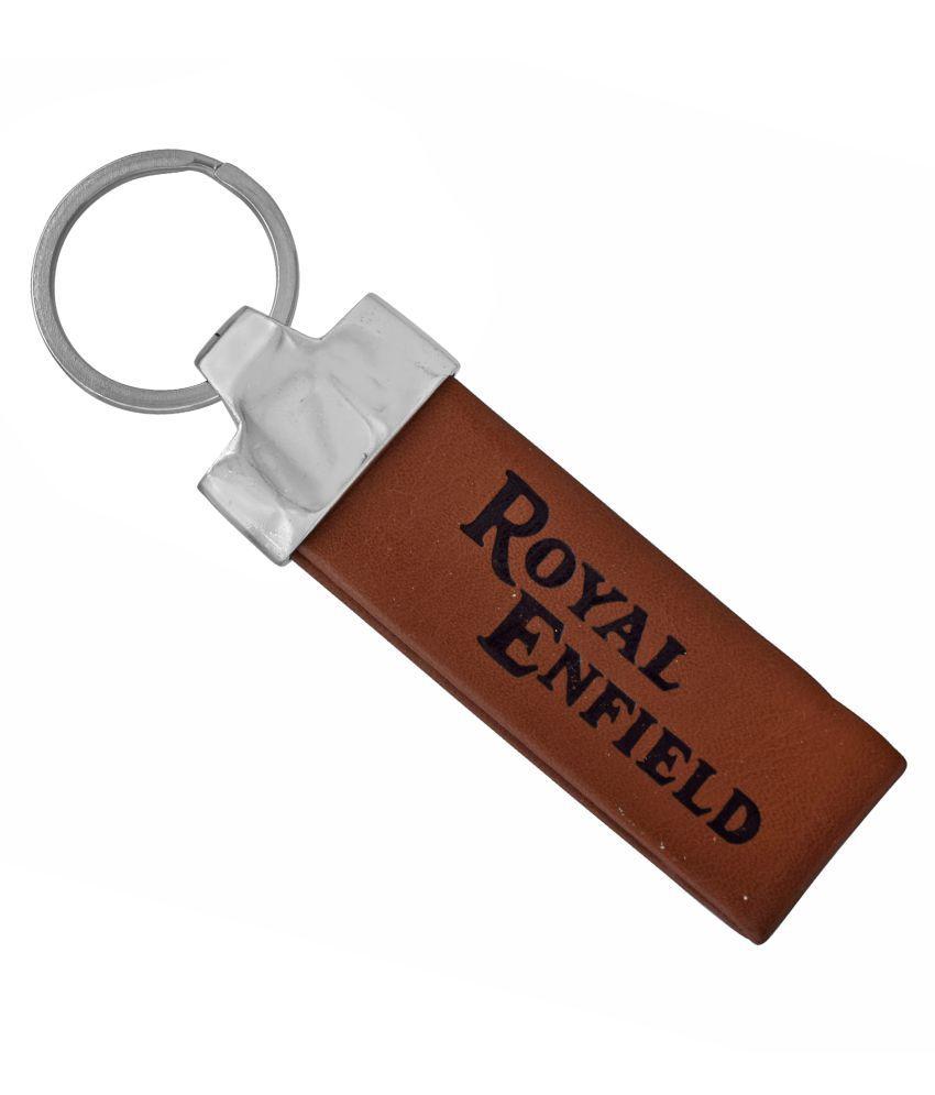 Dzine Trendz Genuine Dark tan leather , loupe design Royal Enfield (Bullet) , Key ring, Key chain, Accessories bike  latest stylish
