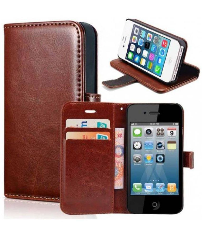 detailed look 2b73d 10fa8 iPhone 8 Plus Flip Cover by Red Plus Mercury - Brown