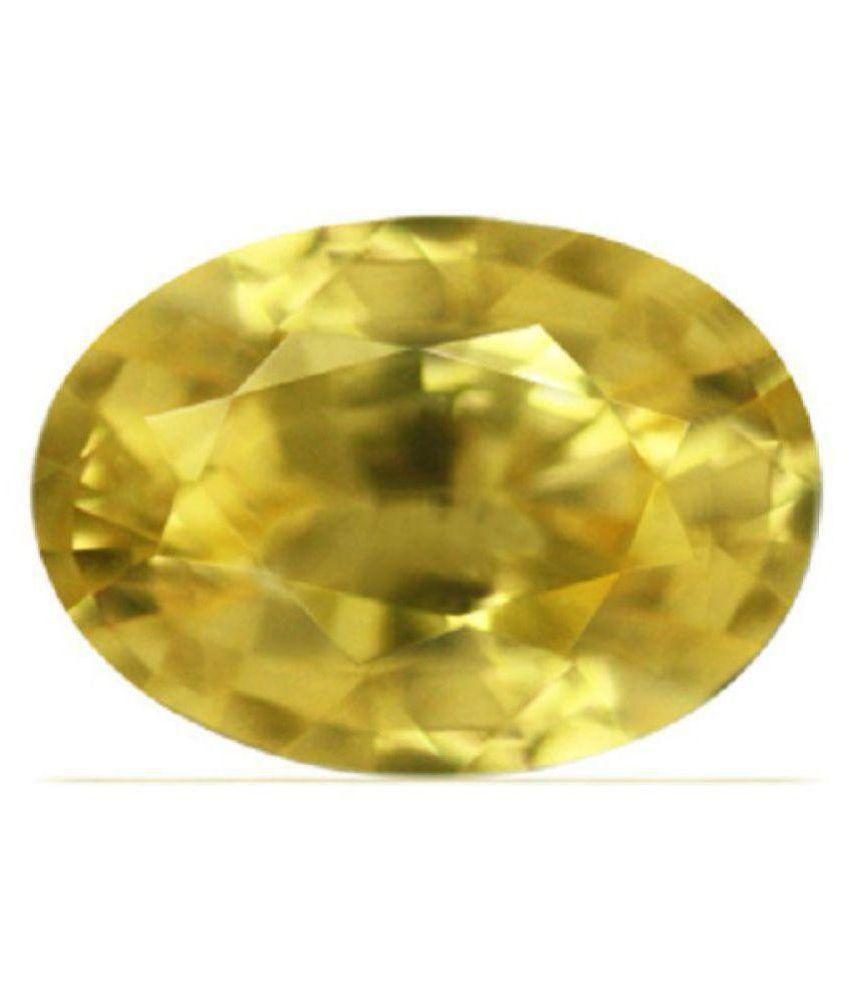 FeelTouchMart 8.5 -Ratti IGL Yellow Yellow Sapphire (Pukhraj) Precious Gemstone