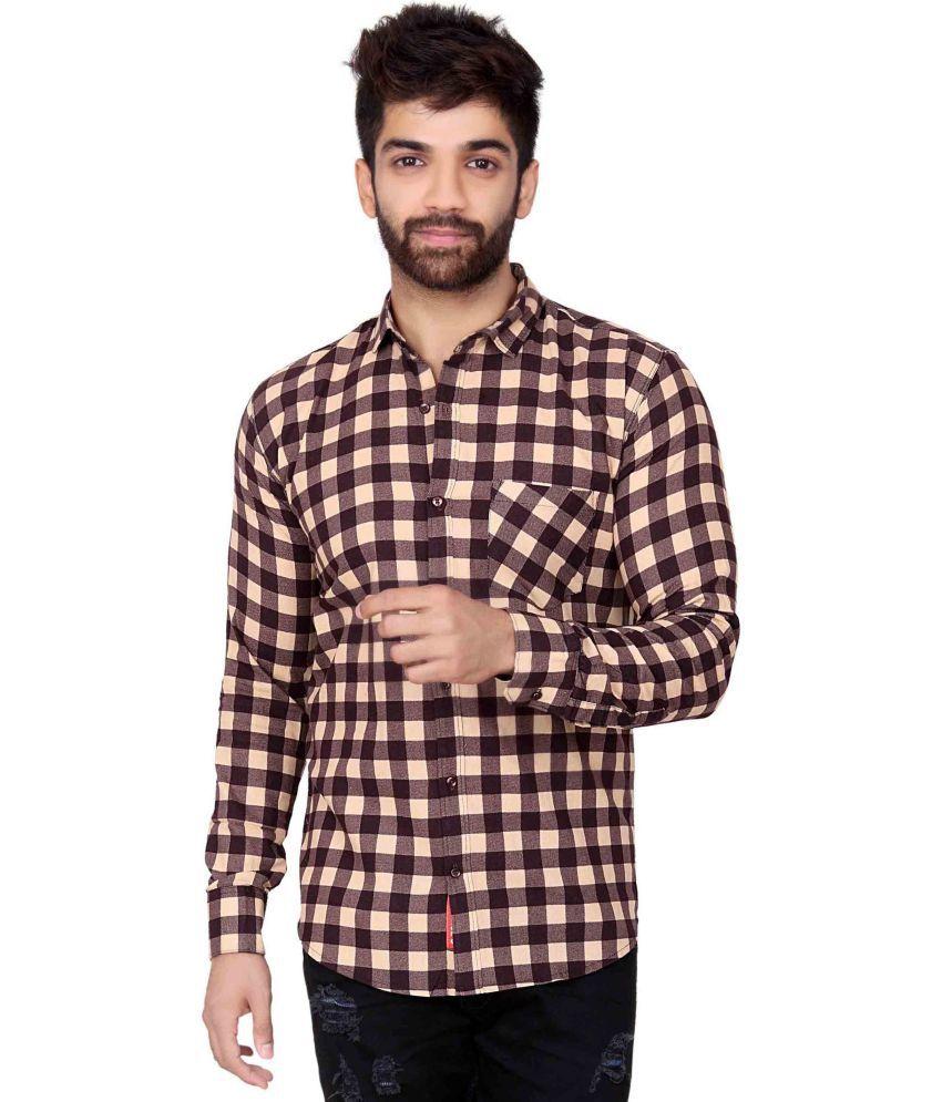 Jugend Brown Slim Fit Shirt