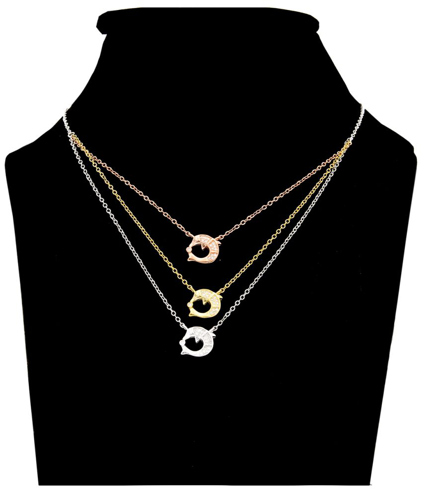 Aretha Jewels 92.5 Silver Necklace