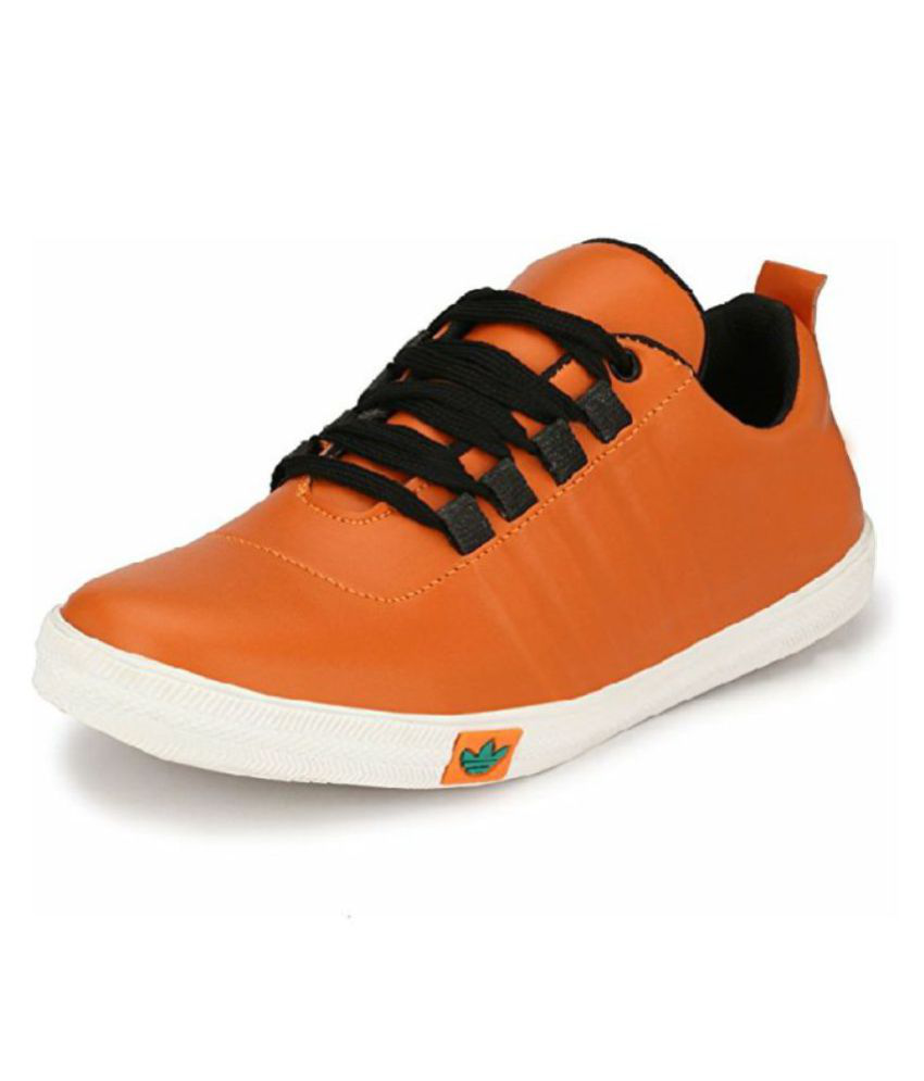 f3c0700b88 well feet casual shoes for mens Sneakers Orange Casual Shoes - Buy ...
