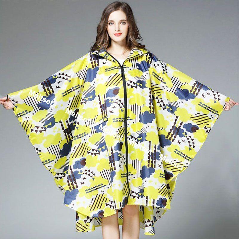 Changing Destiny Waterproof Long Raincoat - Yellow