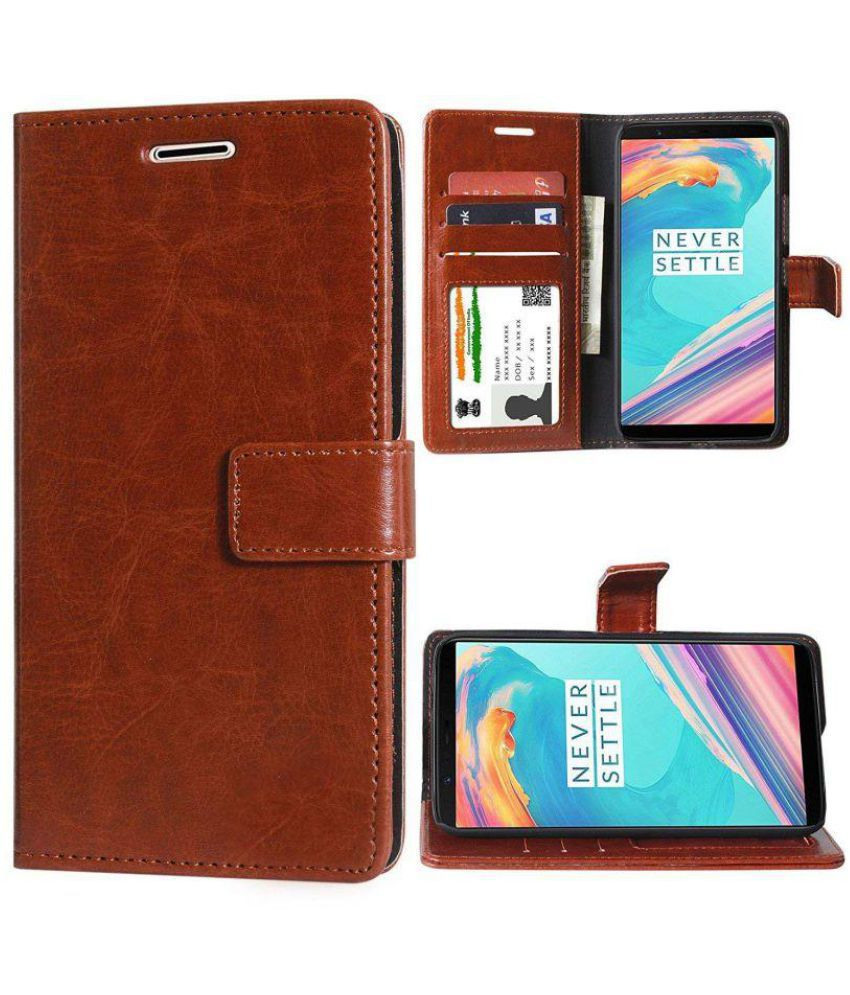 Nokia 6 Flip Cover by Red Plus Mercury - Brown