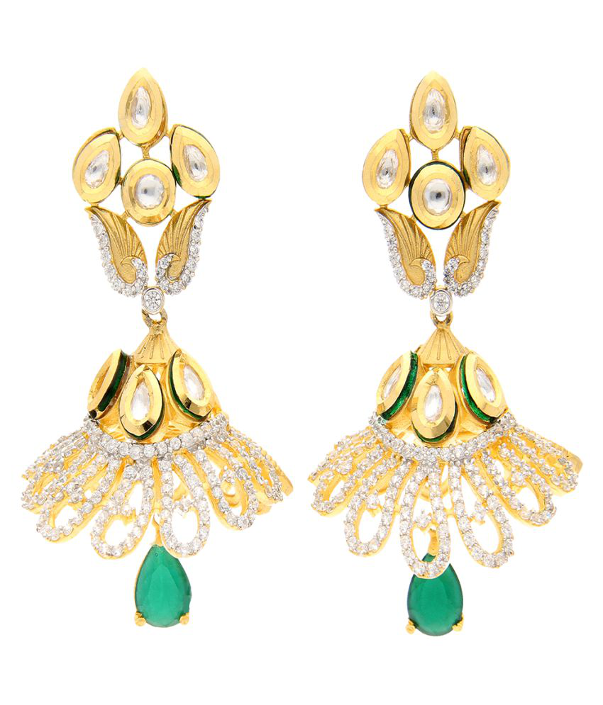 Aretha Jewels 92.5 Gold None Jhumki