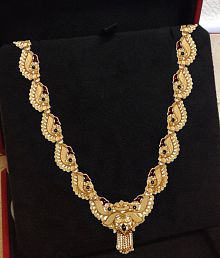 Ethnic Traditional Gold Plated Goldplated Fashion Jewelry Jewellery Necklace With Enamel Beauty For Women India